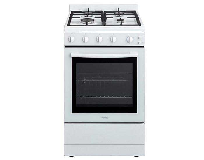 Euromaid FGG54W 540mm White All Gas Upright Cooker