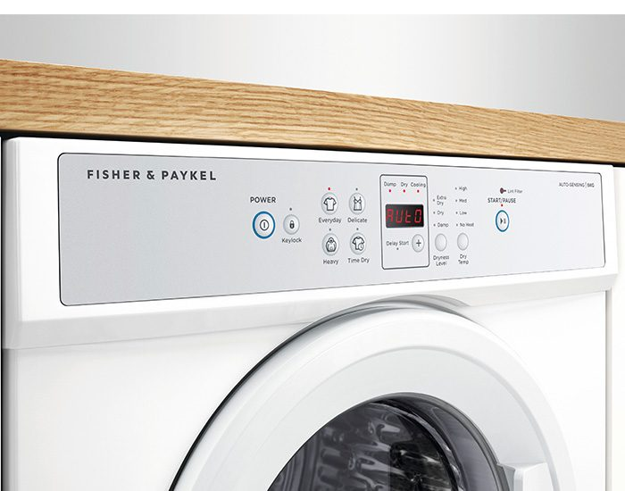 Fisher Paykel DE6060M1 6Kg Vented Dryer Lifestyle Control Panel