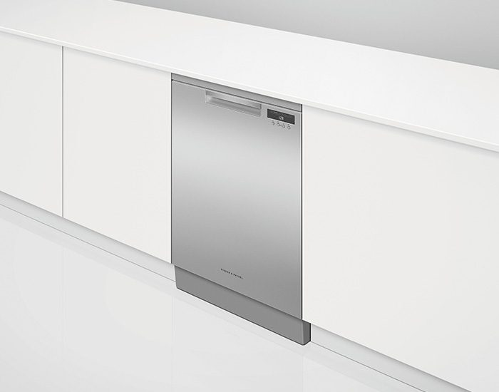 Fisher & Paykel DW60FC1X1 Stainless Steel Freestanding Dishwasher Lifestyle Angle