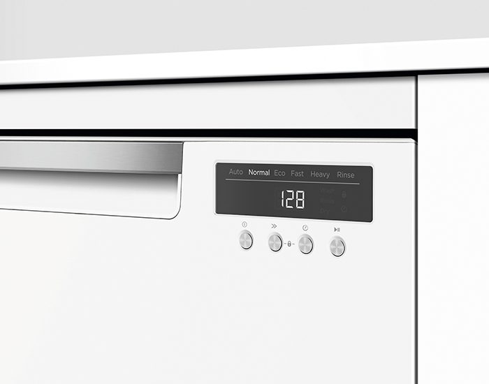 Fisher & Paykel DW60FC4W1 15 Place White Freestanding Dishwasher Lifestyle Control Panel