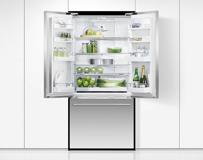 Fisher & Paykel RF522ADX5 519L Stainless Steel French Door Fridge Open Lifestyle