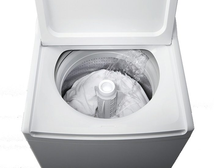 Fisher & Paykel WA1068G1 10kg WASHSMART Top Load Washer Lifestyle Lid Open