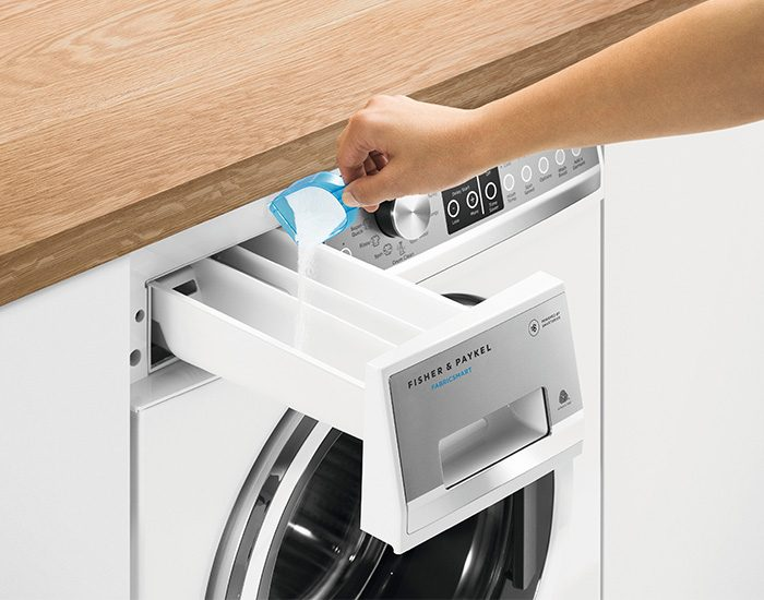 Fisher & Paykel WH8560F1 8.5kg Front Load Washer Detergent Lifestyle