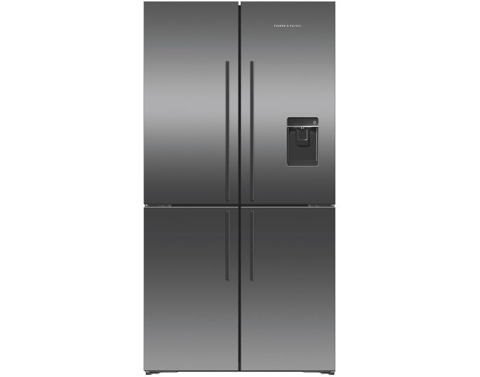 Fisher and Paykel RF605QDUVB1 605L Quad Door Refrigerator in Black Stainless Steel Main