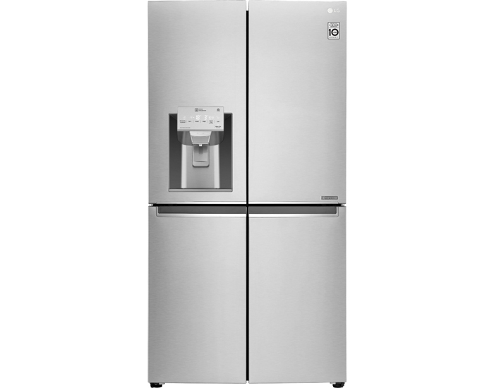 Lg 708l french door fridge freezer black stainless steel