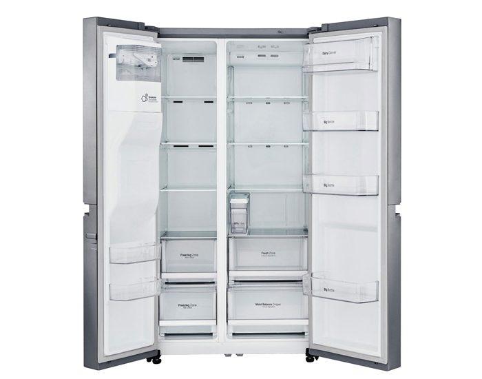LG GSL668PNL 668L Shiny Steel Side by Side Refrigerator