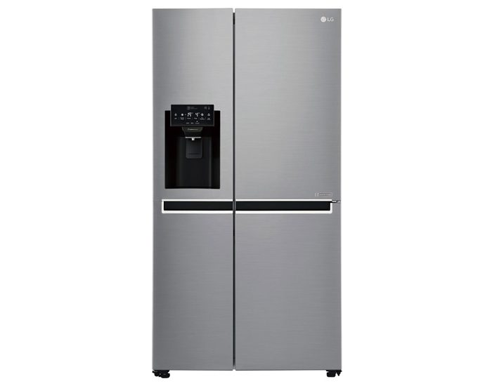 LG GSL668PNL 668L Shiny Steel Side by Side Refrigerator