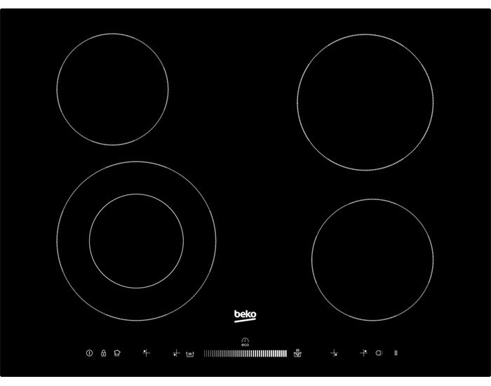 Beko HIC74502T1 70cm Electric Ceran Cooktop
