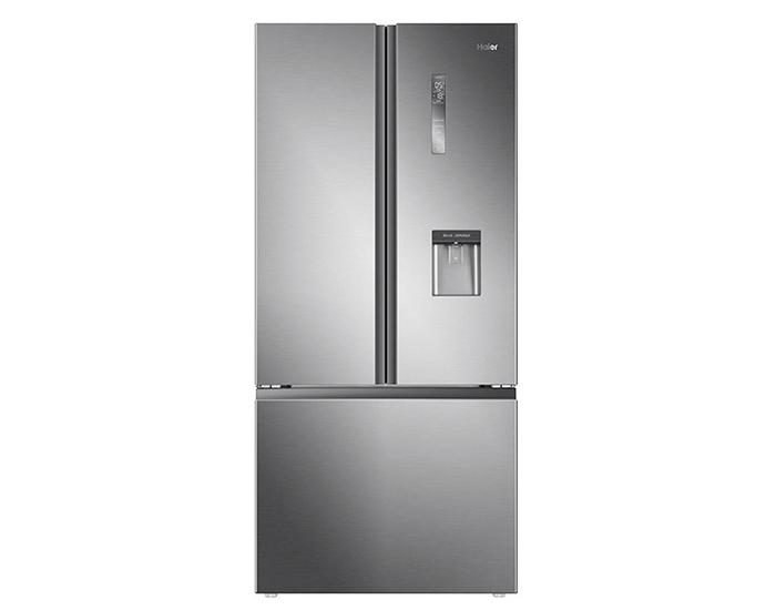 Haier HRF520FHS 514L Satin Silver French Door Refrigerator