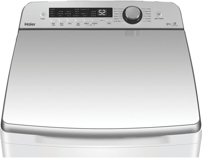 Haier 8kg Top Load Washer HWT08AN1 TopDown