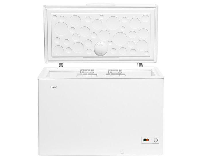 Haier HCF324W2 324L White Chest Freezer Open