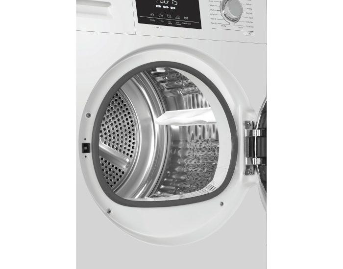 Haier HDHP80E1 8Kg Heat Pump Dryer in White Drum