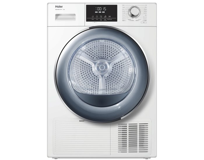 Haier HDHP80E1 8Kg Heat Pump Dryer in White Main