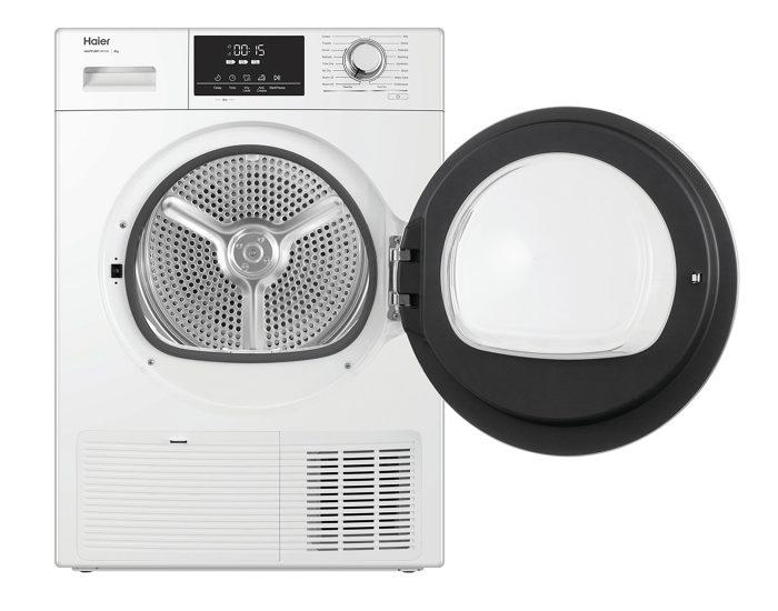 Haier HDHP80E1 8Kg Heat Pump Dryer in White Open