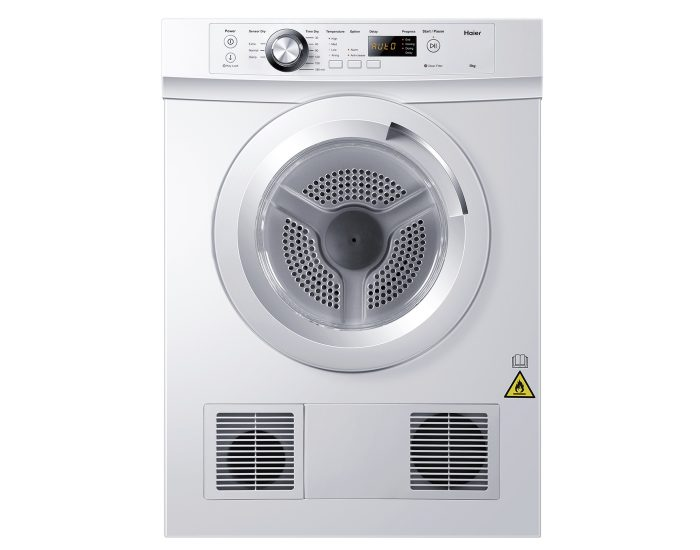 Haier HDV50E1 5Kg Vented Dryer with Sensor in White Main