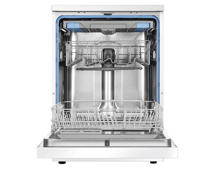 Haier HDW13V1W1 13 Place White Dishwasher Open Empty