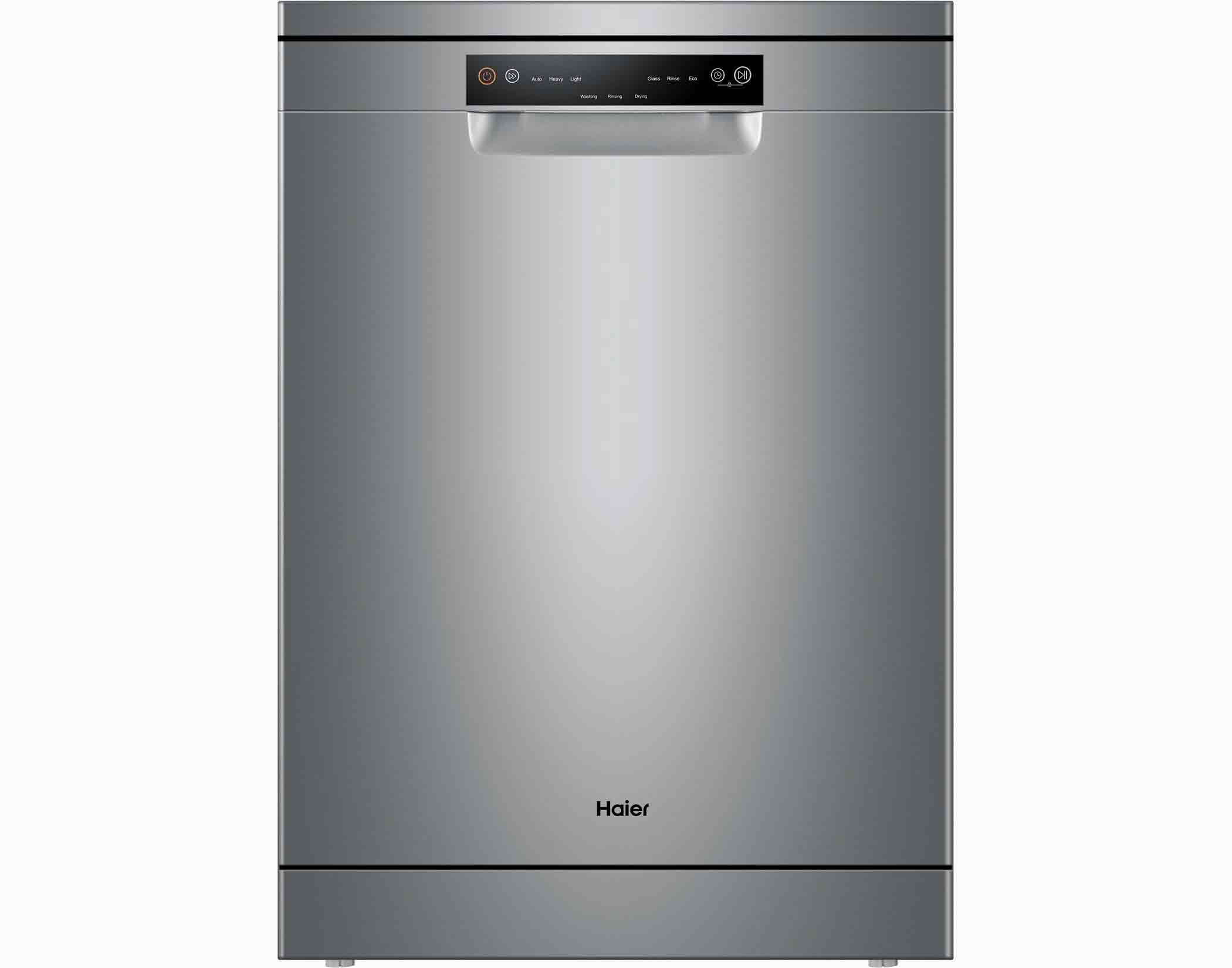 Haier HDW15V2S2 15 Place Setting Freestanding Dishwasher in Stainless Steel Main