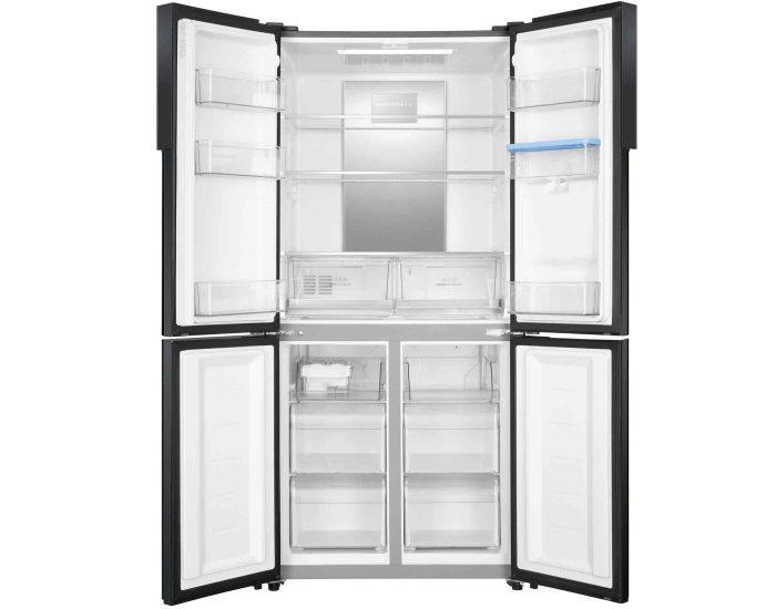 Haier HRF516YHC 516L Black French Door Refrigerator Open
