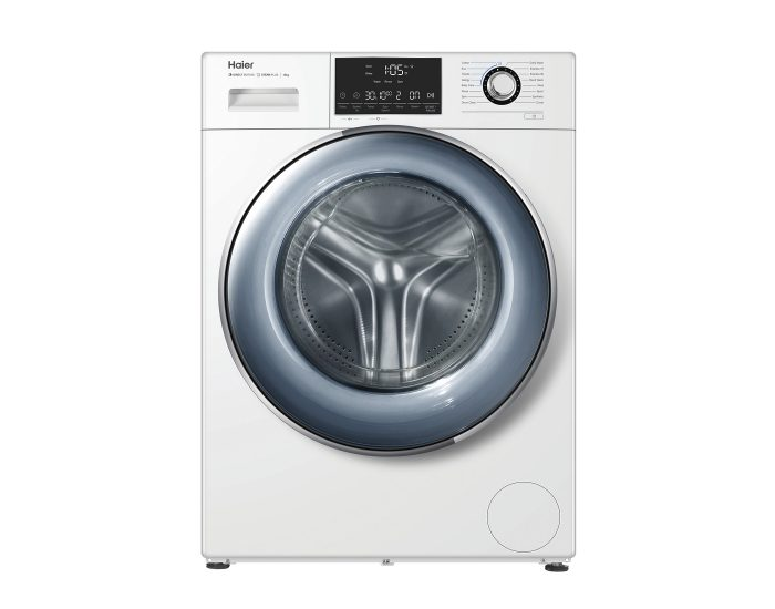 Haier HWF12D1W1 12Kg Front Load Washing Machine in White Main