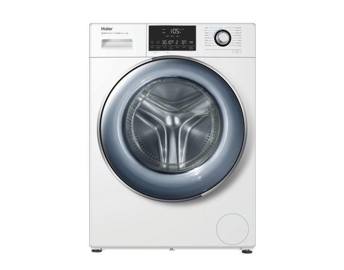 Haier HWF12D1W1 12Kg Front Load Washing Machine in White Main