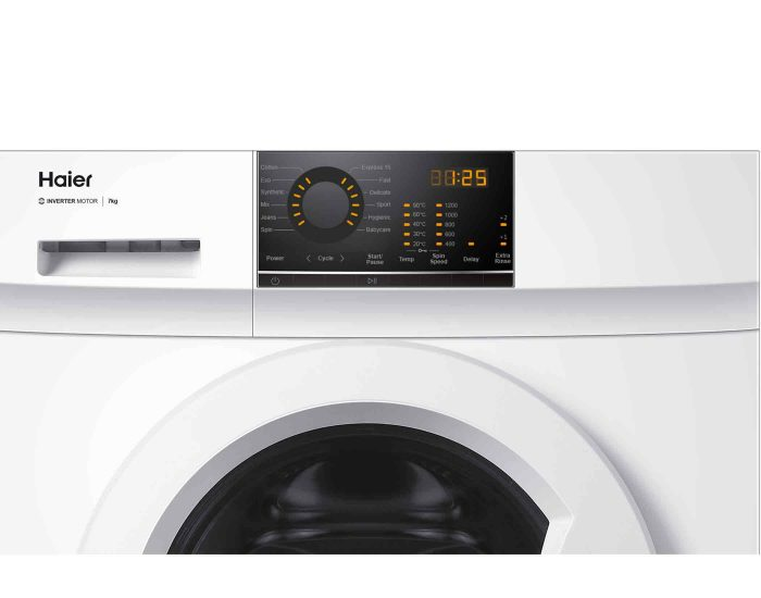 Haier HWF70BW1 7KG Front Load Washing Machine Controls