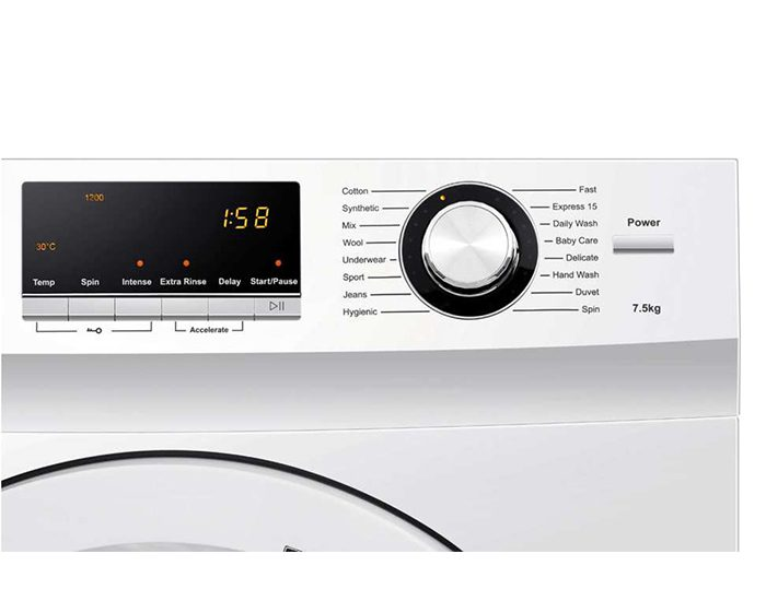 Haier HWF75AW2 7.5KG Front Load Washer Control Panel