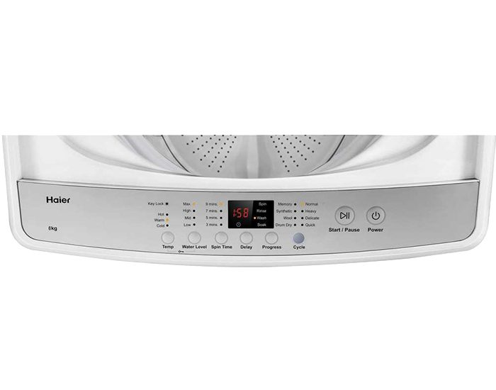 Haier HWT60AW1 6Kg Top Load Washer Control Panel