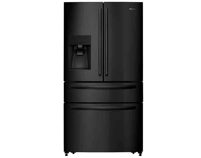 Hisense HR6FDFF701BW 701L Black Steel French Door Fridge Main