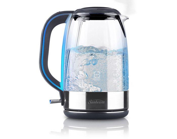 Sunbeam KE9500 1.7L Cool Blue Glass Kettle
