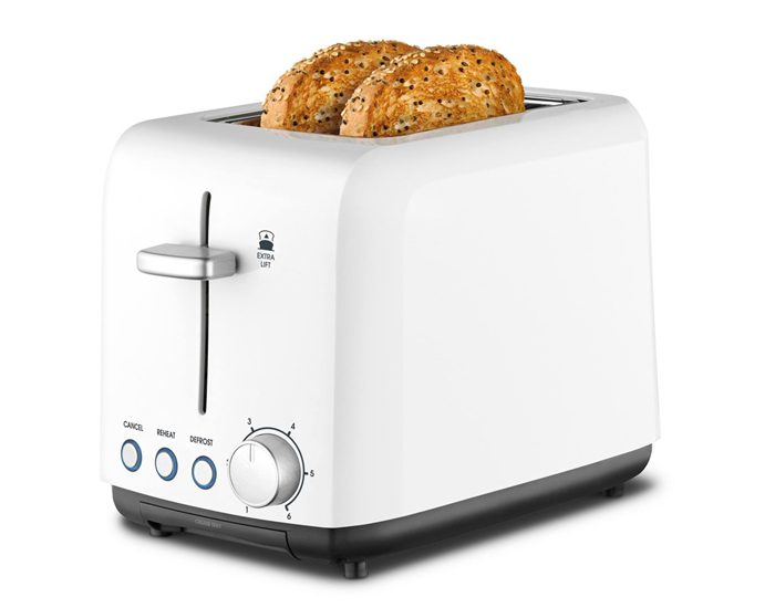 Kambrook KTA120WHT 2 Slice A Perfect Fit Toaster