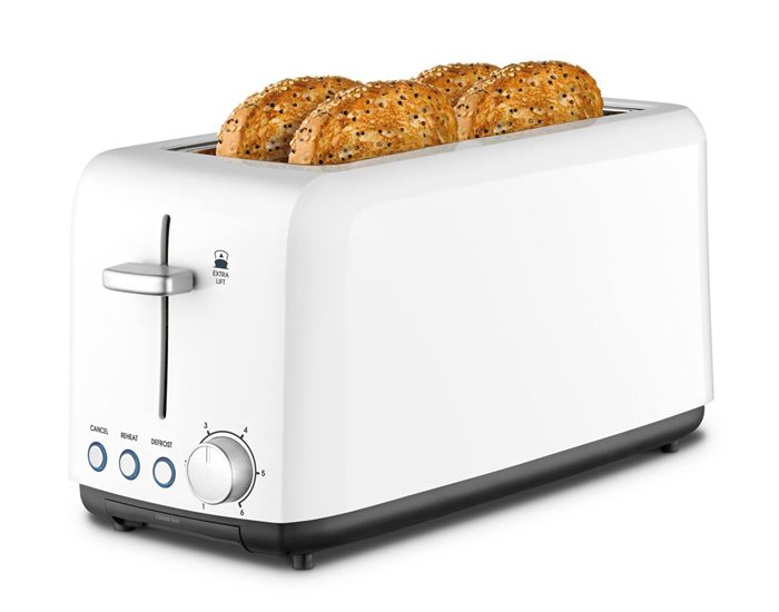 Kambrook KTA140WHT 4 Slice A Perfect Fit Toaster
