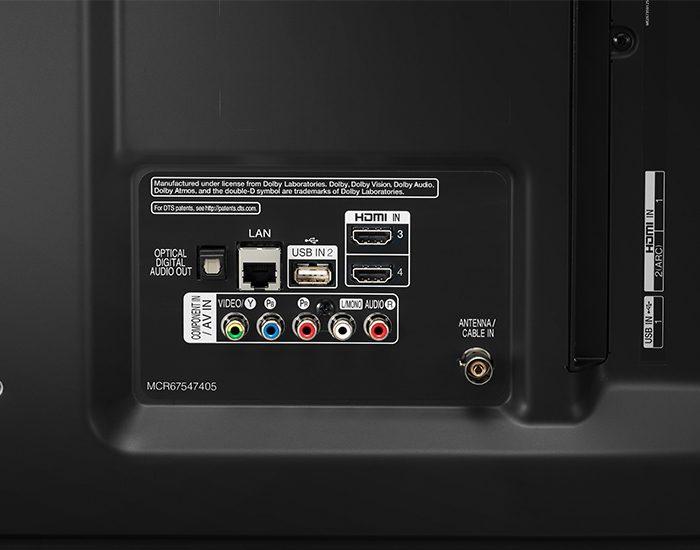 LG 65UM7600PTA 65 4k UHD Smart TV Connections