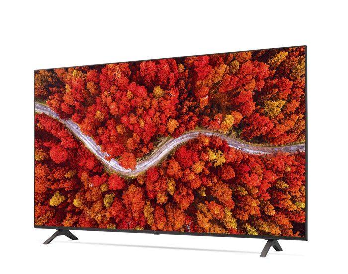 LG 75 inch 4k AI THINQ Smart Tv 75UP8000PTB Angle