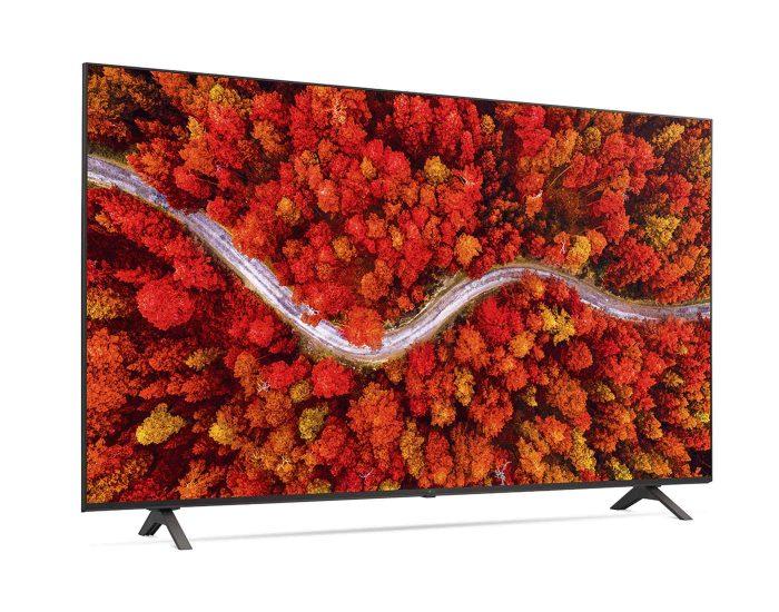 LG 75 inch 4k AI THINQ Smart Tv 75UP8000PTB Angle2
