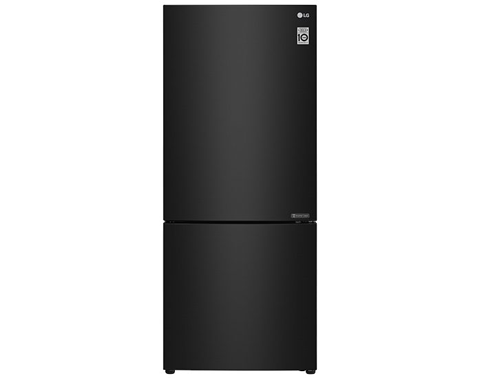 LG GB455BTL 454L Bottom Mount Fridge Black Steel - Main