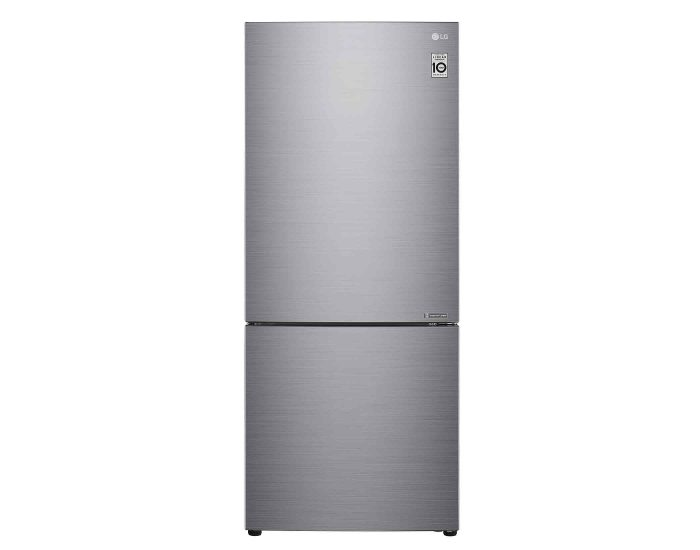 LG GB455PL 454L Bottom Mount Fridge with Door Cooling in Stainless Finish Main