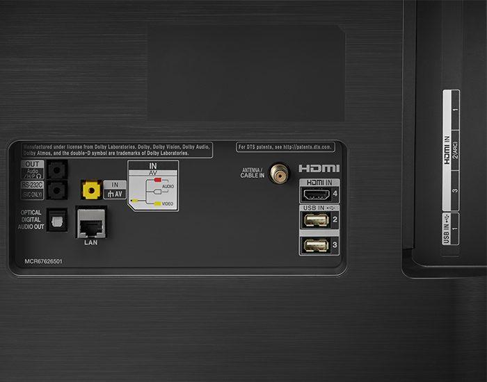 LG OLED55C9PTA 55 C9 4K UHD Smart OLED TV connections