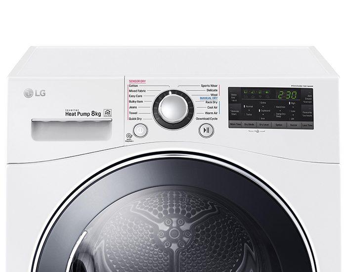 LG TDH802SJW 8kg Condensing Dryer