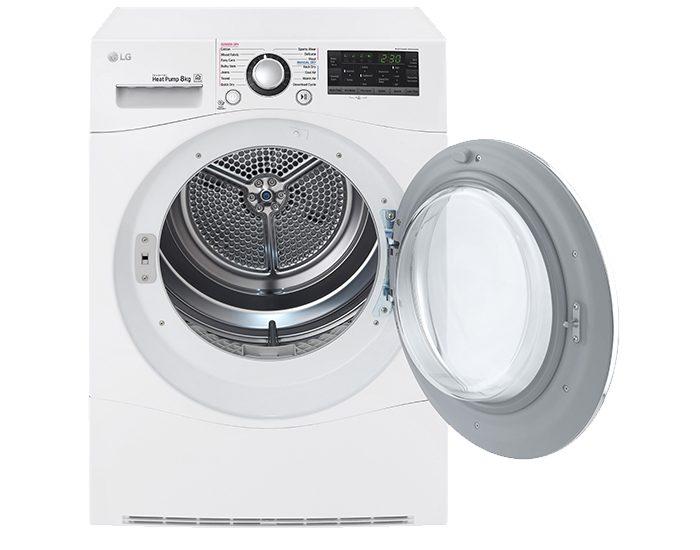 LG TDH802SJW 8kg Condensing Dryer Door Open