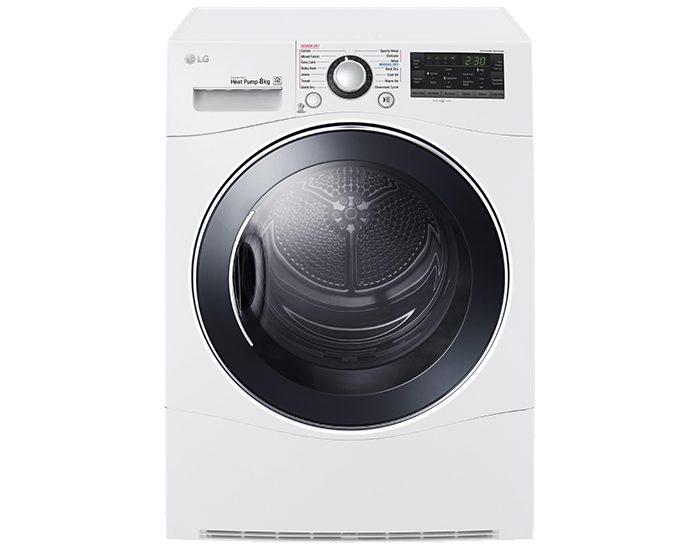 LG TDH802SJW 8kg Condensing Dryer Front