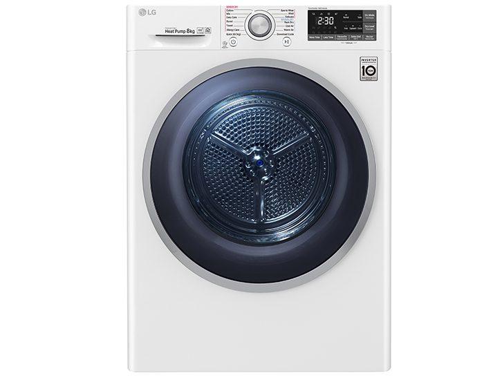 LG TDH803CSW 8kg Heat Pump Dryer with Inverter Control Main