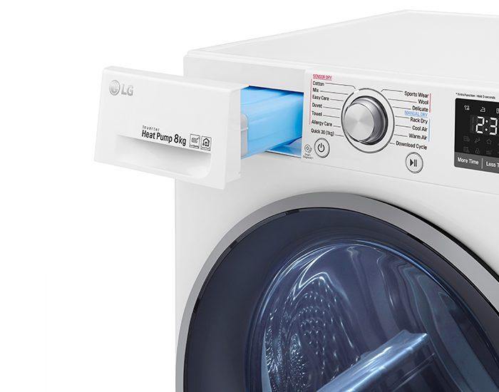 LG TDH803CSW 8kg Heat Pump Dryer with Inverter Control - Bi-Rite