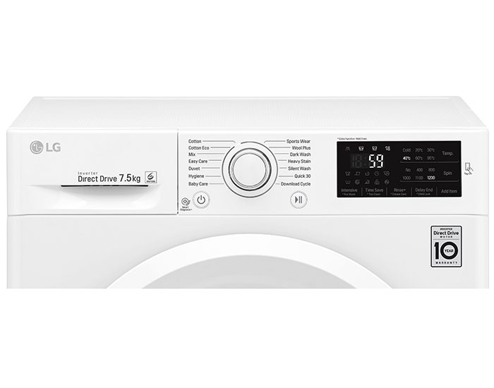 LG WD1275TC5W 7.5KG Front Load Washer control Panel