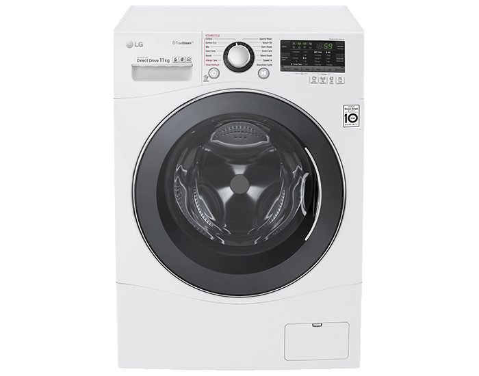 LG WD1411SBW 11kg Front Load Washer with TrueSteam® Front