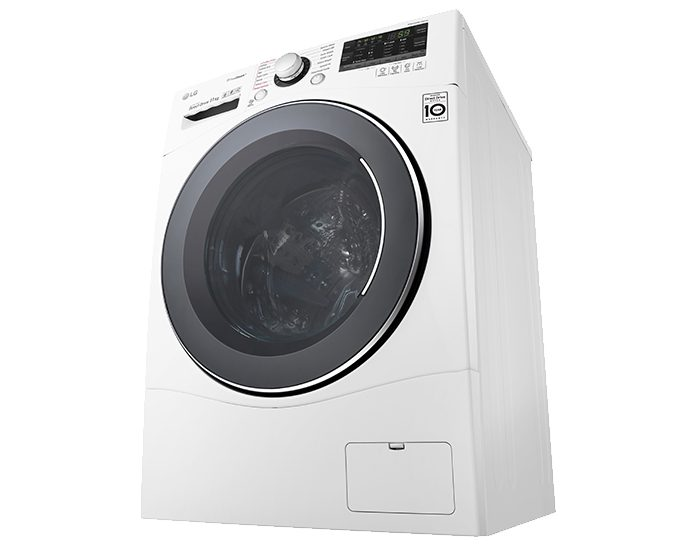 LG WD1411SBW 11kg Front Load Washer with TrueSteam® Perspective
