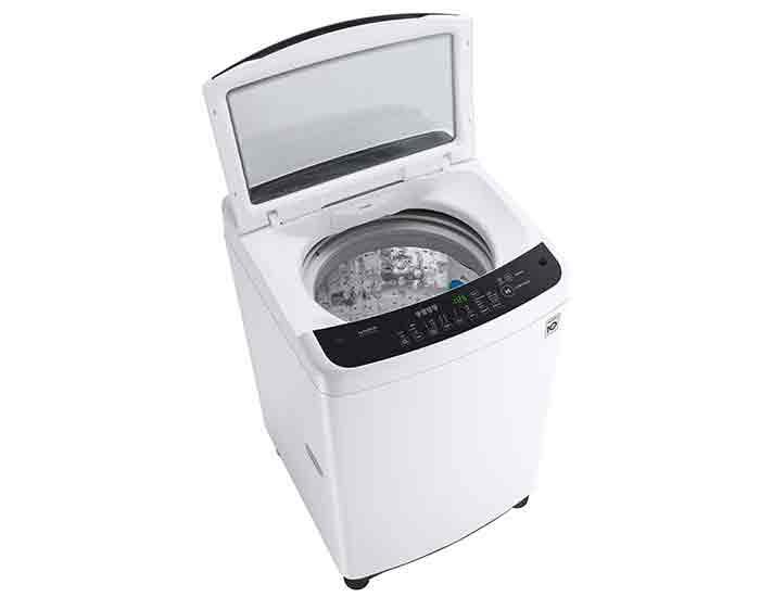 LG WTG8521 8.5Kg Top Load Washing Machine Open Angle