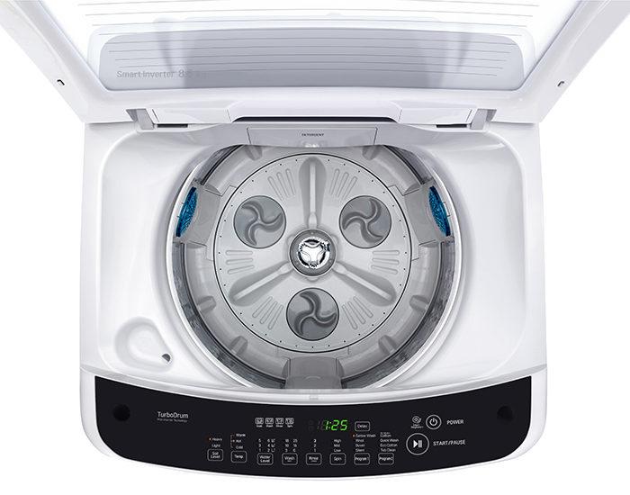 LG WTG8521 8.5Kg Top Load Washing Machine Open Drum
