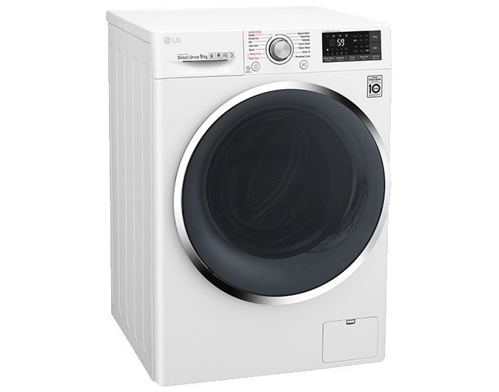LG WTW1409VCW 9KG Front Load Washing Machine Angle Left