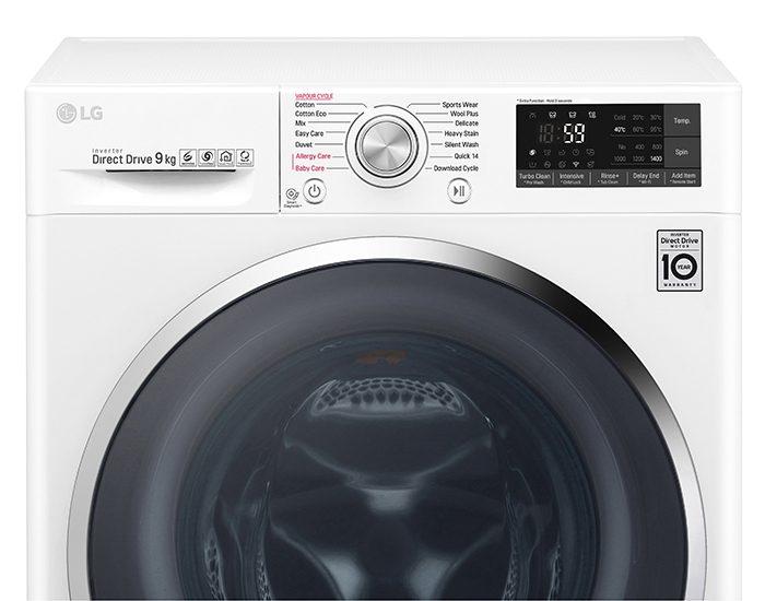 LG WTW1409VCW 9KG Front Load Washing Machine Control Panel