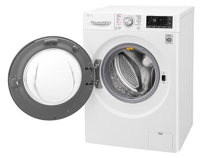 LG WTW1409VCW 9KG Front Load Washing Machine Door Open